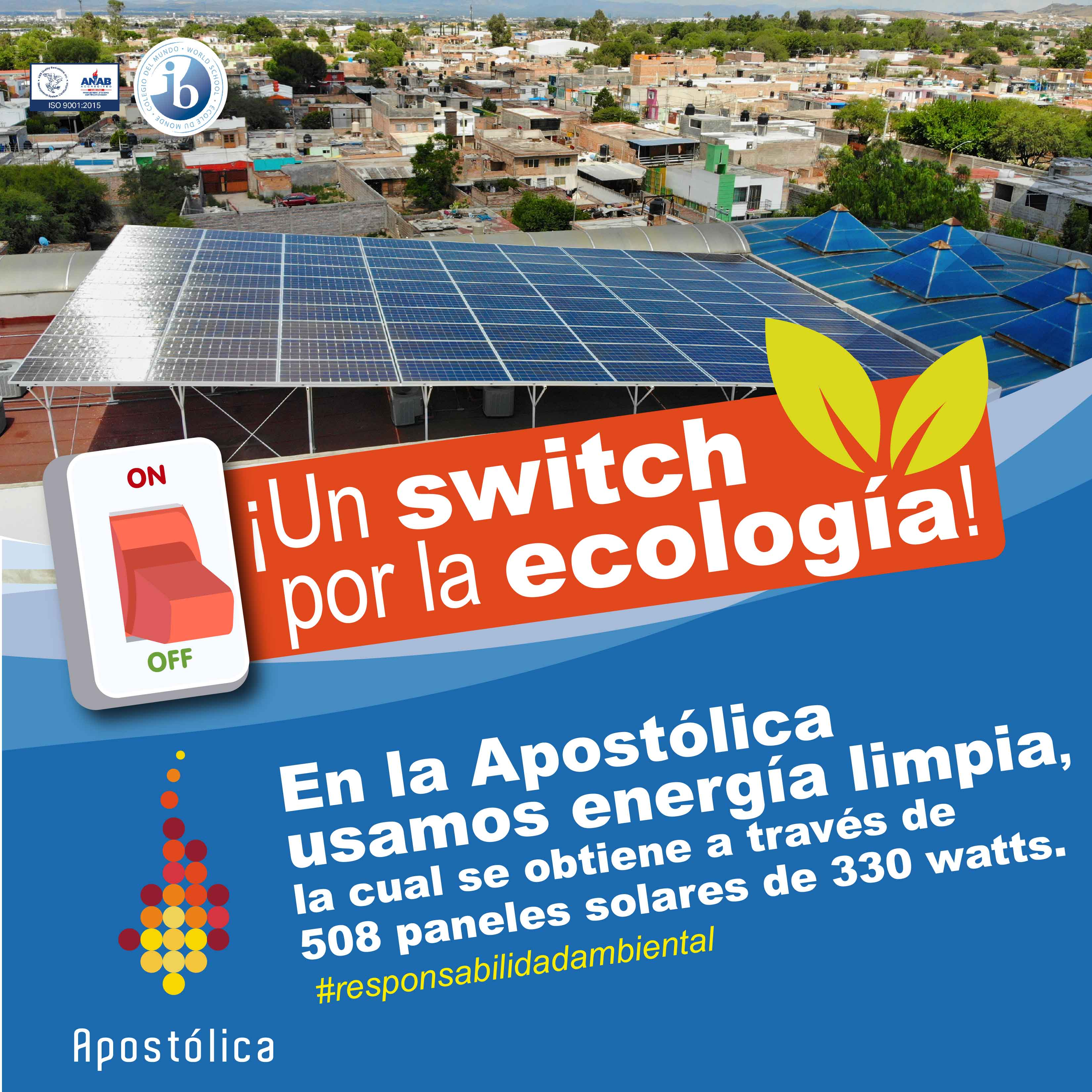 La Apostólica da un switch por la ecología al instalar paneles solares y utilizar energía limpia.