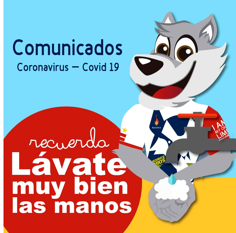 Comunicados coronavirus Covid-19