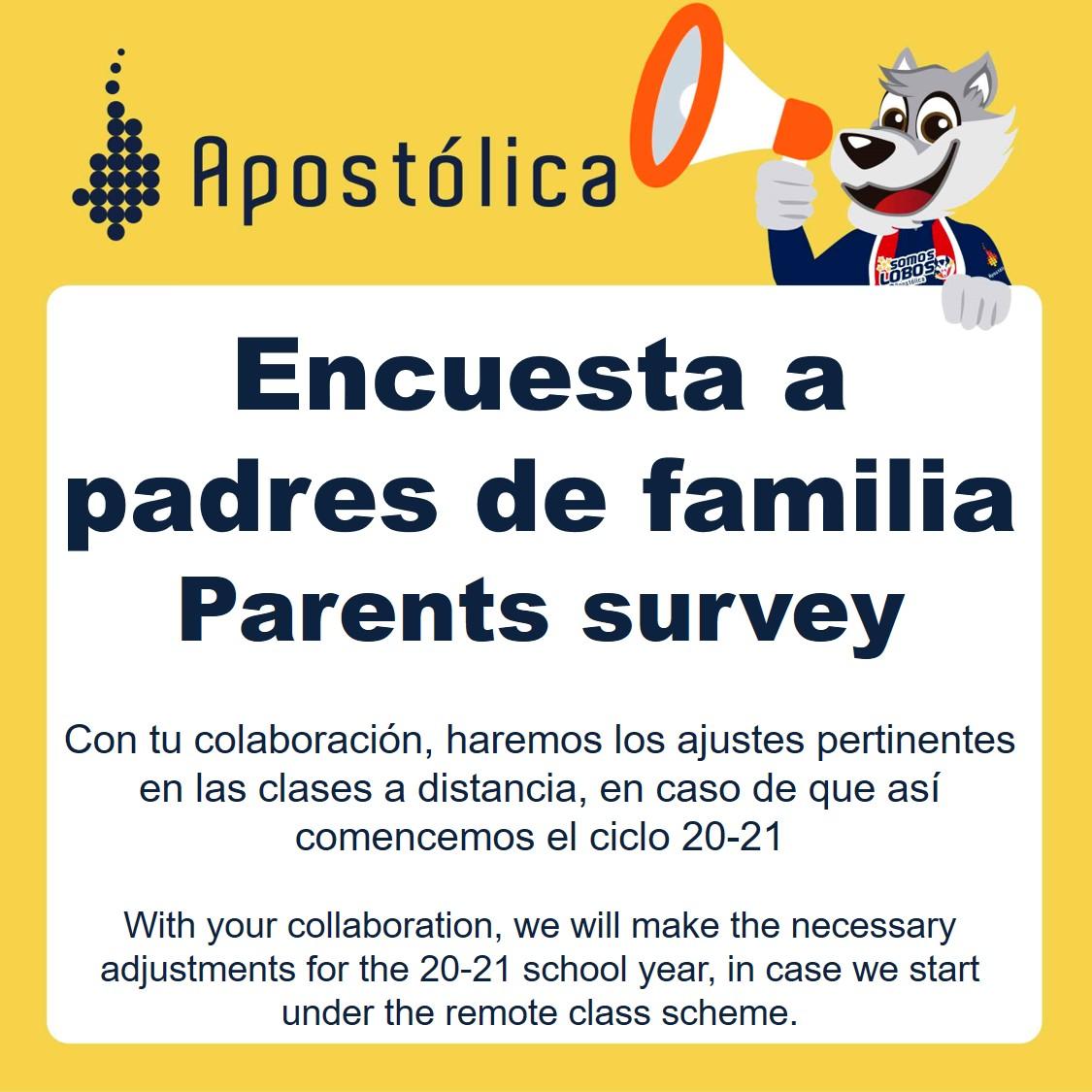 Encuesta a padres de familia