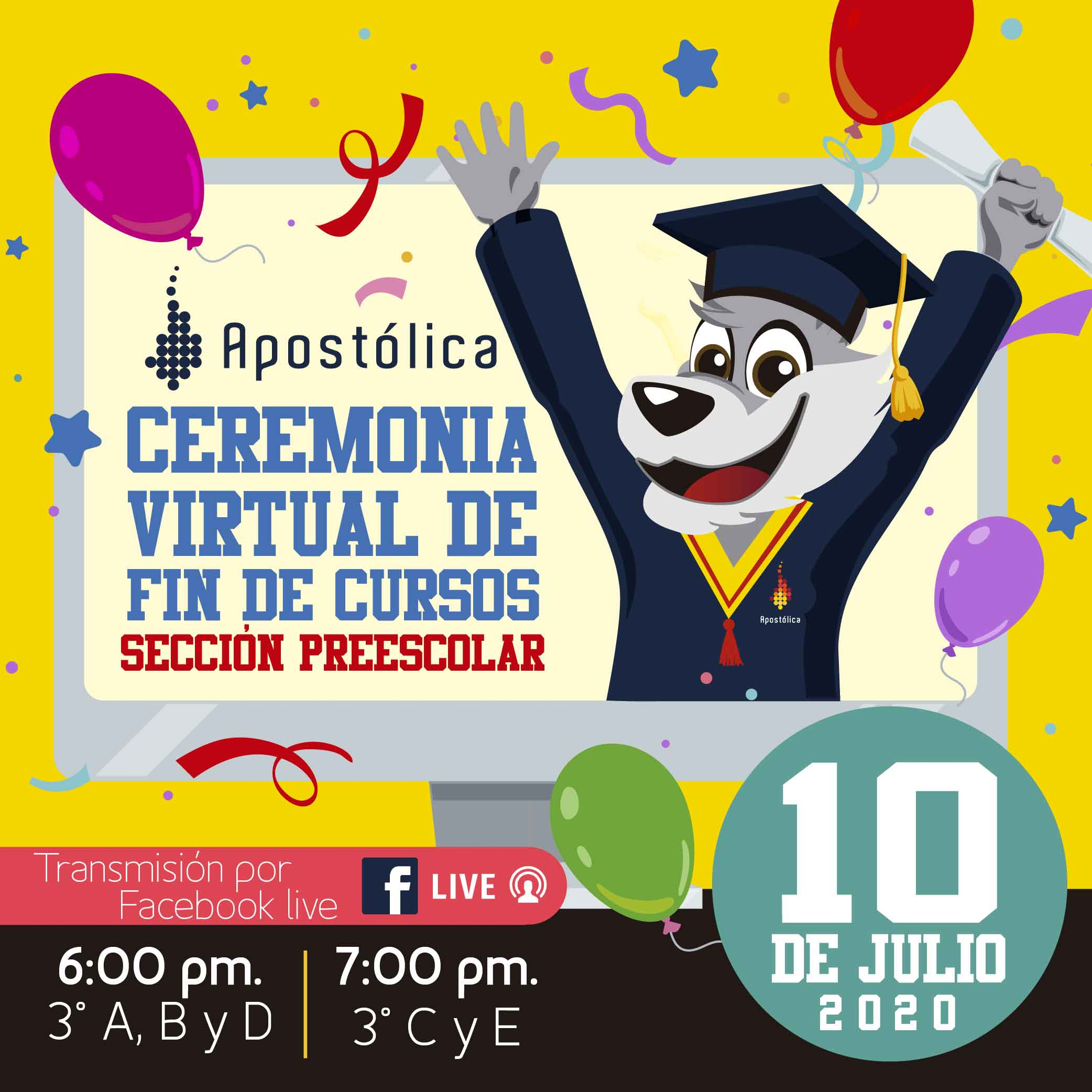Ceremonia virtual de fin de cursos, Preescolar