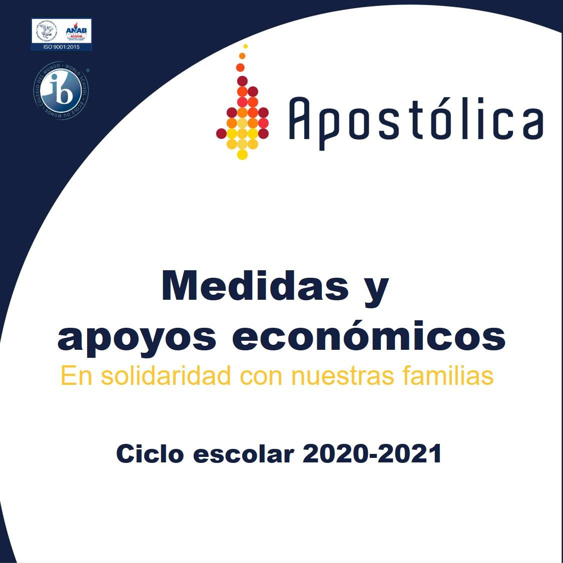 Medidas y apoyos económicos para el ciclo 2020-2021